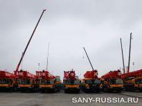 Новые автокраны SANY