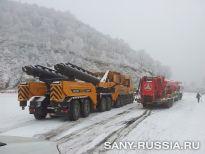 Транспортировка 120-тонного автокрана SANY SAC12000