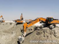 Экскаваторы SANY на строительстве объекта Чемпионата мира 2022