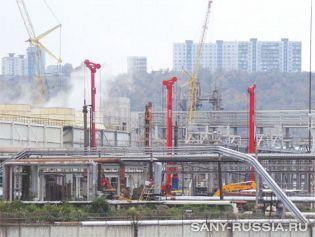 Буровые установки на объекте строительства в Челябинске