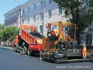 Асфальтоукладчик SANY LTU80S II в Иркутске