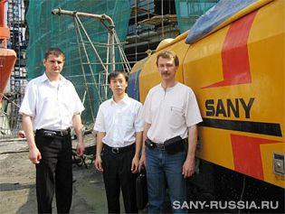 Стационарный бетононасос SANY на строительстве башни Федерация в Москве Сити