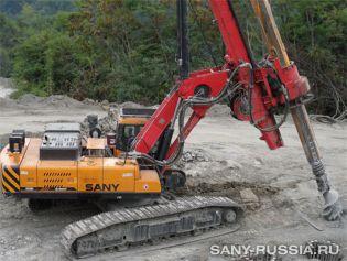 Буровая установка SANY на строительстве олимпийского объекта Сочи 2014