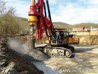 Буровая установка SR150C на строительстве ТЭЦ для Сочи