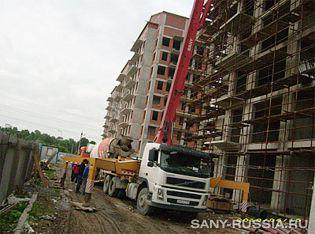 автобетононасос SANY на строительстве в Санкт-Петербурге