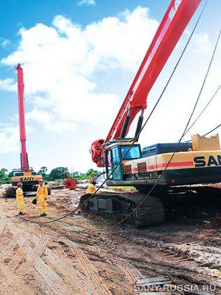 Роторная буровая установка SANY в Нигерии