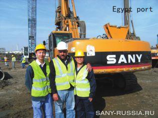 Роторная буровая установка SANY на строительстве порта в Египте