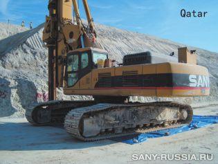 Роторная буровая установка SANY на объекте строительства в Катаре