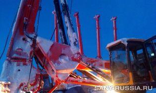 Буровые установки SANY SR150C, SR220C работают на объекте Ямал СПГ