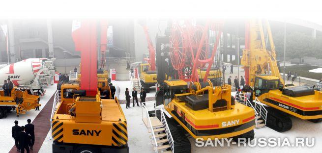 Буровая установка и грейферный кран SANY