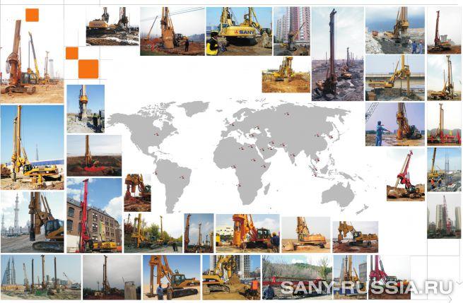 Буровые установки SANY работают на объектах по всему миру