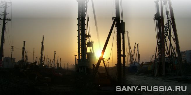 Сваебойные установки SANY