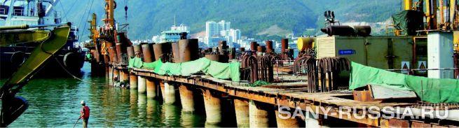 буровая установка RCD на строительстве морского порта