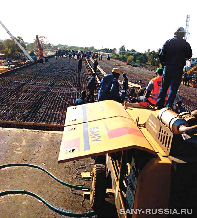 Стационарный бетононасос SANY для для трёхградационного бетона