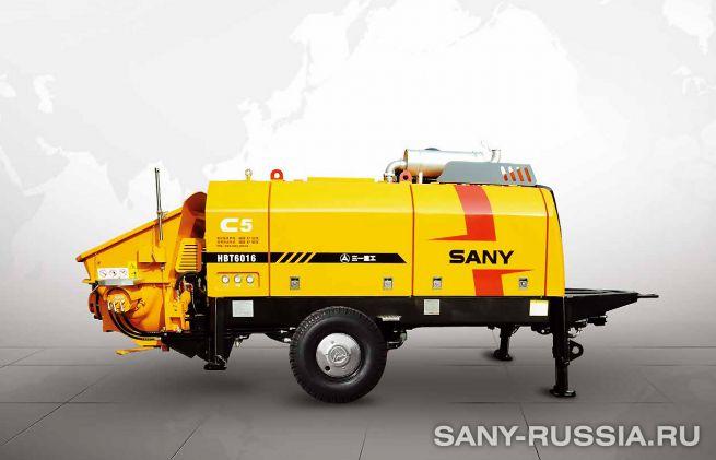 Стационарный бетононасос SANY HBT6016C-5S