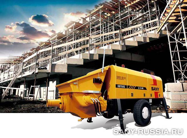 Стационарный бетононасос SANY HBT6016C-5
