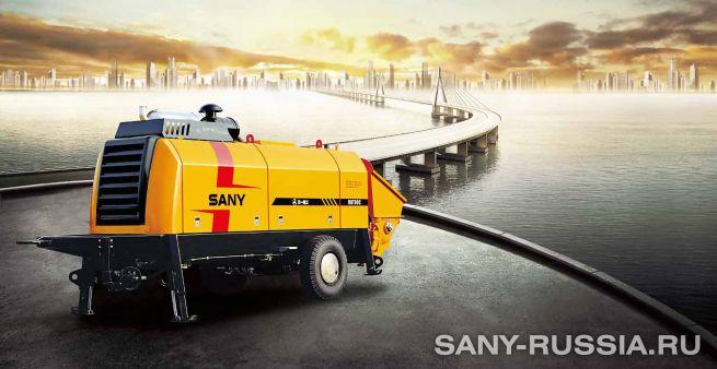 Стационарный бетононасос SANY