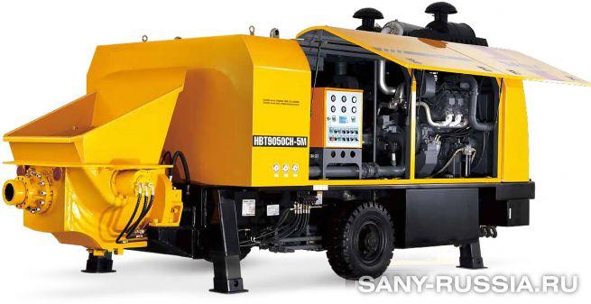 Стационарный бетононасос сверхвысокого давления SANY HBT9050CH-5M