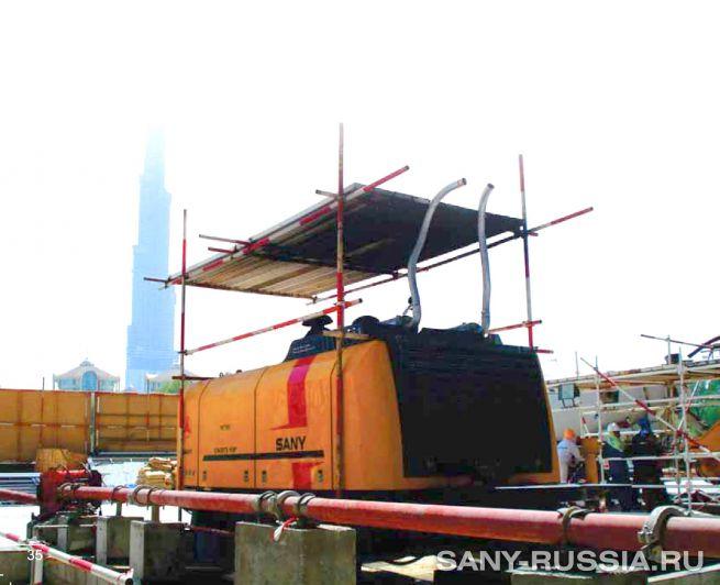 Стационарный бетононасос SANY для сверхвысокого давления