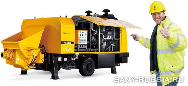 Стационарный бетононасос сверхвысокого давления SANY HBT90CH-2128D