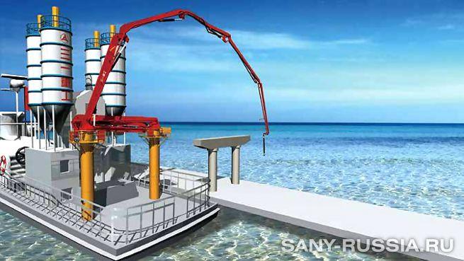 Бетонораспределительная корабельная стрела SANY HGC46