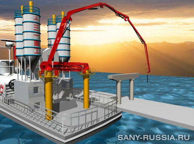 Корабельная бетонораспределительная стрела SANY HGC46