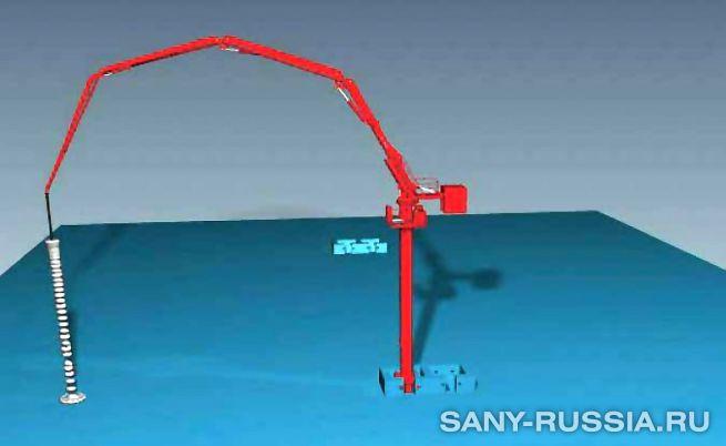 Бетонораспределительная стрела SANY HGD33B