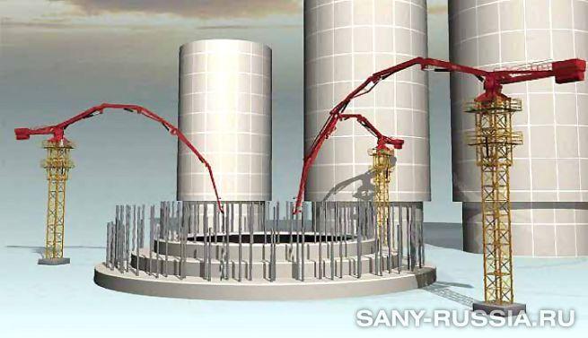 Башенная бетонораспределительная стрела SANY HGT38