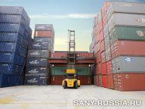Погрузчик порожних контейнеров