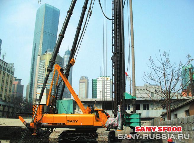 Сваебойная установка SANY SF808