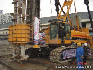 Универсальная сваебойная установка SANY SFY758 с SMW