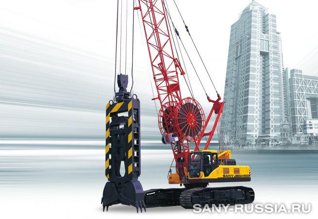 Грейферный экскаватор SANY SH350D