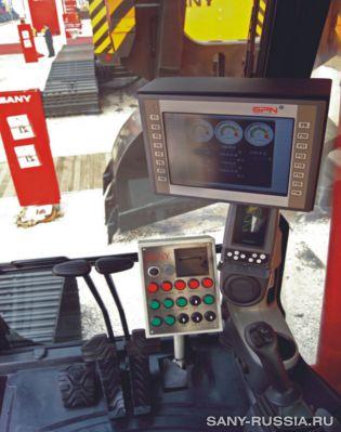 Электронные приборы и органы управления грейферного экскаватора SANY SH400C
