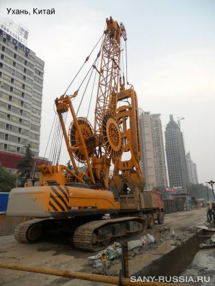 Грейферный экскаватор SANY SH400C в Китае