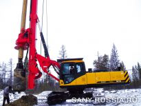 SANY SR150, снег