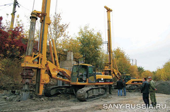 Буровые установки SANY SR150 работают объекте в России