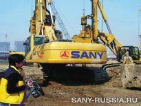 SANY SR220C на строительстве аэропорта