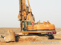SANY на строительстве дорожной развязки