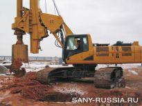 Буровая установка SANY на строительстве железной дороги