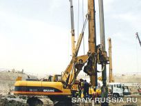 Буровая установка SANY SR220C на объекте строительства (2008 год)