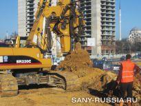 Буровая установка SANY SR220C на объекте строительства в Стамбуле, Турция