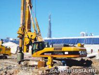 SANY SR 220C на строительстве района Бизнес Бэй в Дубае, ОАЭ