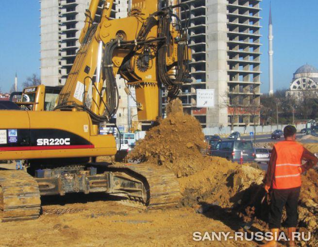 Буровая установка SANY SR220C на объекте строительства в Стамбуле