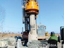 Буровая установка SANY SR220R на испытаниях по бурению в скальной породе