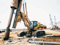 SANY SR 250 на строительстве метрополитена