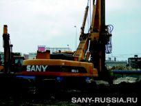 SANY SR250 на строительстве дороги Таншань-Шихуань