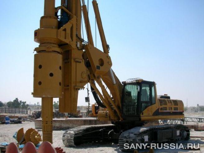 Буровая установка SANY работает на строительстве железной дороги