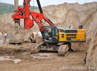 SANY SR360 на строительстве высокоскоростной железнодорожной магистрали