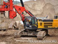 SANY SR360, горы