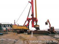 SANY SR360 на строительстве железнодорожного моста